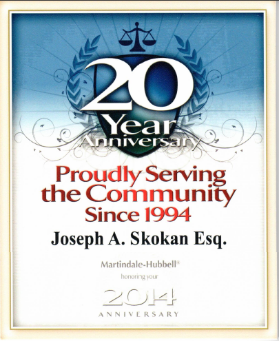 20yrs of Service - Joe Skokan