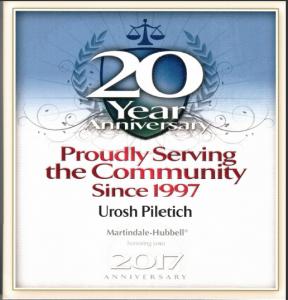 20yr Service - Urosh